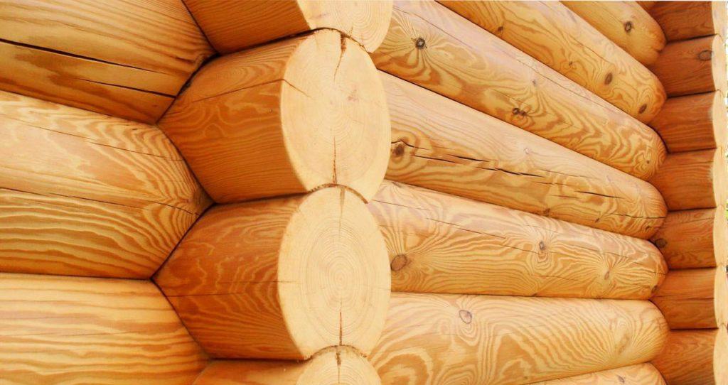 rounded log, оцилиндрованное бревно