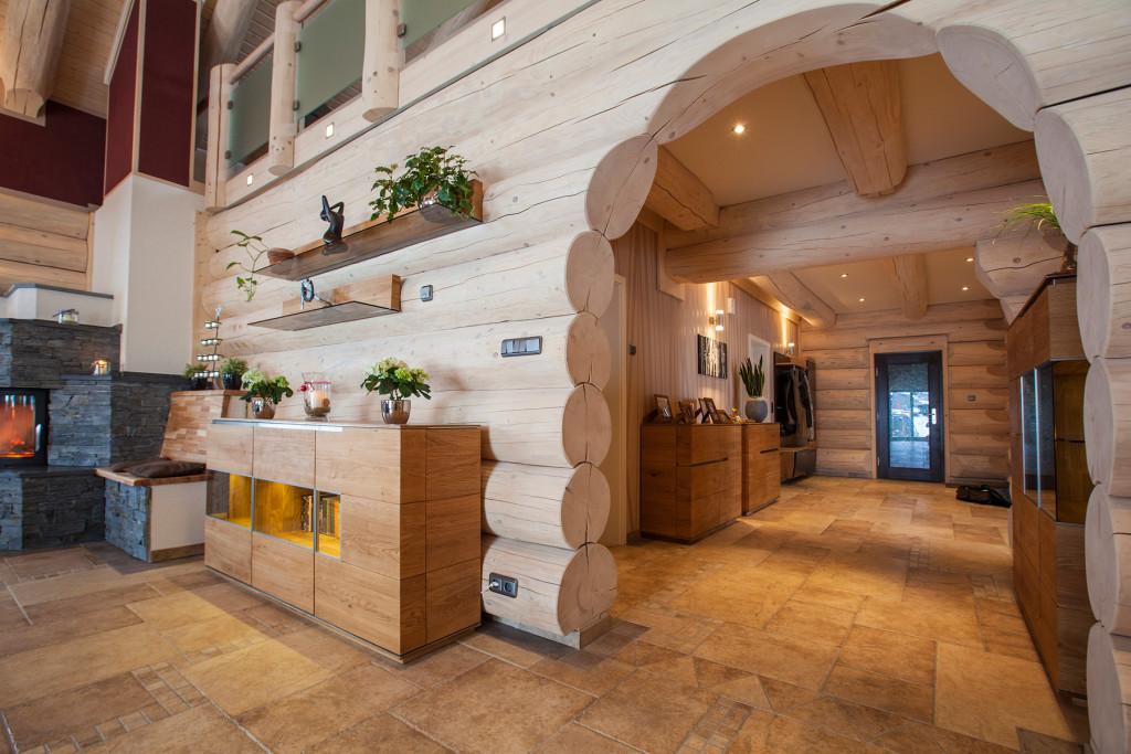 отделка деревянных домов, internal finishing