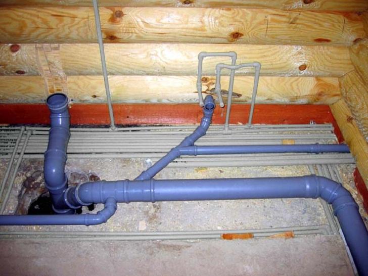 разводка канализации, installation of water supply
