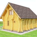 дом из бревна 120м2