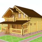 дом из бревна 140м2