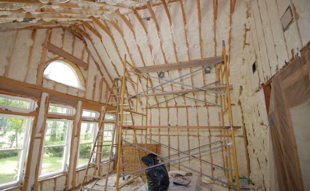 утепление дома, wood house warming