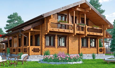 деревянный дом 424 кв.м, glued beam house