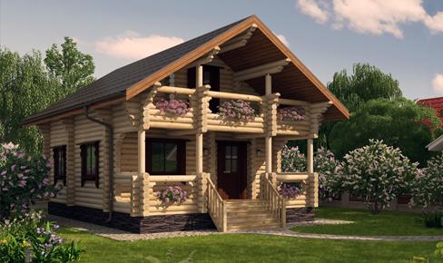 двухэтажная баня 110 кв.м, bathhouse 110 m2