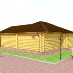 деревянная баня 137 кв.м
