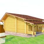 деревянная баня 49 кв.м