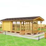 деревянная баня 52 кв.м