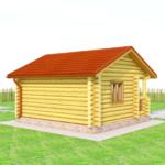 деревянная баня 24 кв.м