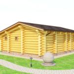 деревянная баня 72 кв.м