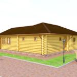 деревянная баня 138 кв.м