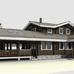 деревянный дом 127 кв.м