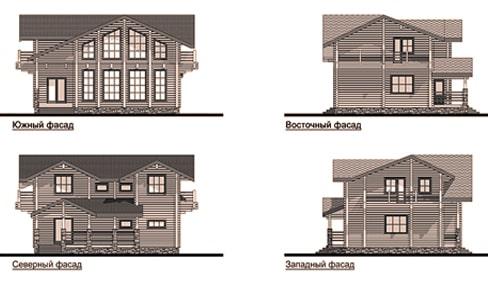 Стороны деревянного дома 172 кв.м.