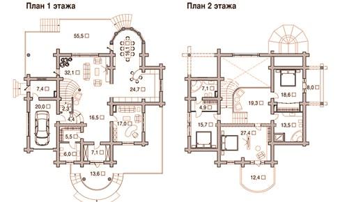 Проект деревянного дома 175 кв.м.
