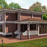 деревянный дома 195 кв.м
