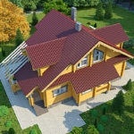 деревянный дом 221 кв.м