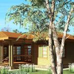 деревянный дом 265 кв.м