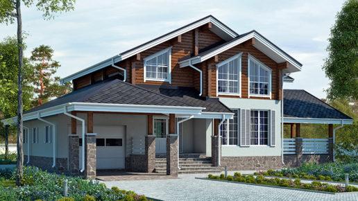 деревянный дом 275 кв.м