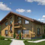 деревянный дом 281 кв.м