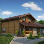 деревянный дом 483 кв.м