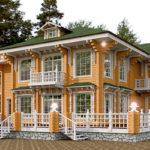 деревянный дом 550 кв.м