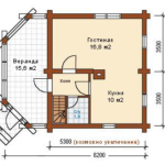 деревянный дом 70 кв.м
