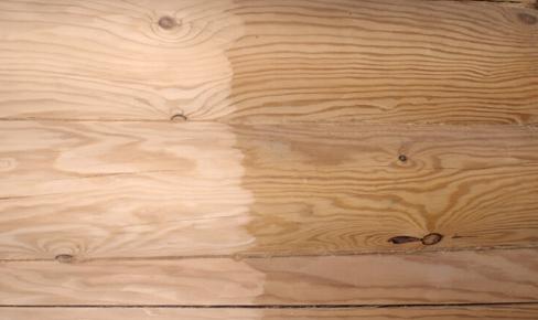 покраска дома, log bleaching