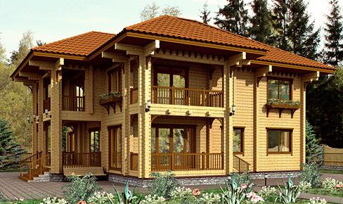 деревянный дом 280 кв.м, profile timber house 280 m2