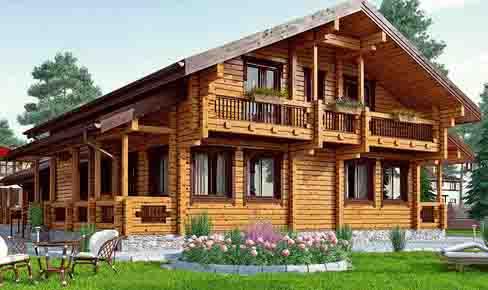деревянный дом 425 кв.м, profile timber house 425 m2