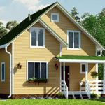 деревянный дом 95 кв.м, profile timber house 95 m2
