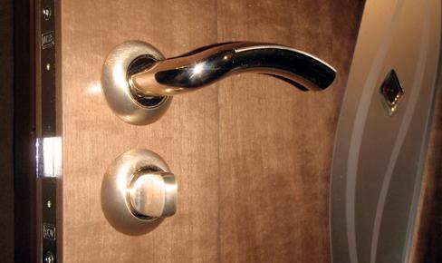 врезка дверной руки, door handle mounting