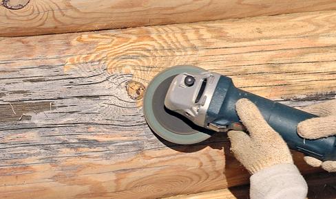 покраска дома, log grinding