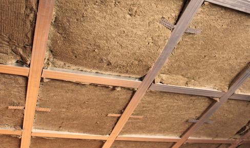 утепление потолков, ceiling heater mounting