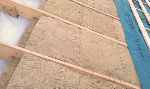 утепление крыши, roof heater mounting