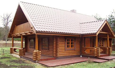 деревянный дом 121 кв.м, rounded log house 121 m2