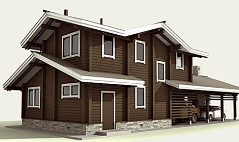 деревянный дом 127 кв.м, profiled timber house 127 m2