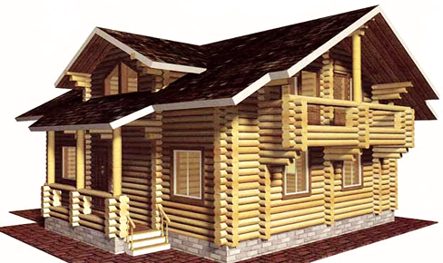 деревянный дом 148 кв.м, rounded log house 148 m2