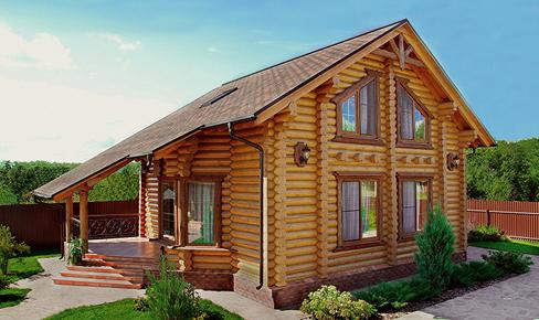 деревянный дом 153 кв.м, rounded log house 153 m2