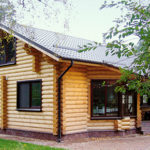 деревянный дом 154 кв.м, rounded log house 154 m2