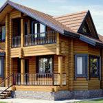 деревянный дом 155 кв.м, profiled timber house 155 m2