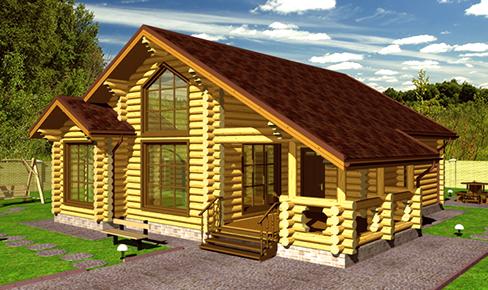 деревянный дом 156 кв.м, rounded log house 156 m2