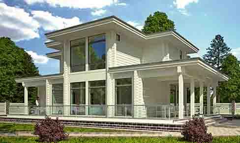 деревянный дом 157 кв.м, glued beam house 157 m2