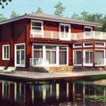 деревянный дом 162 кв.м, glued beam house 162 m2