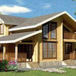 деревянный дом 164 кв.м, profiled timber house 164 m2