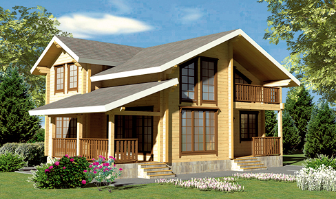 profiled timber house 164 m2