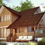деревянный дом 166 кв.м, profiled timber house 166 m2
