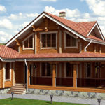 деревянный дом 167 кв.м, profiled timber house 167 m2