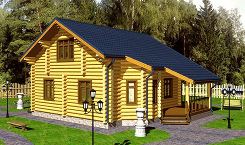 деревянный дом 170 кв.м, rounded log house 170 m2