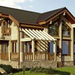 деревянный дом 173 кв.м, profiled timber house 173 m2