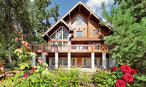деревянный дом 175 кв.м, profiled timber house 175 m2