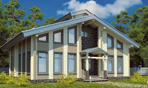 деревянный дом 176 кв.м, profiled timber house 176 m2